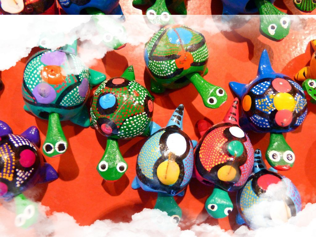 Tortugas de colores en los sueños